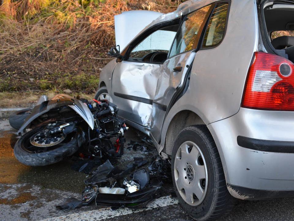 Die Unfallstelle auf er B317.  | Foto: kamera24.tv
