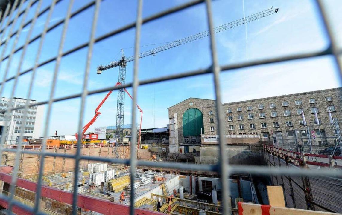 So sieht derzeit die Stuttgart-21-Baustelle aus.  | Foto: dpa