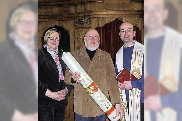 Kerze für Fridolinmünster gestiftet