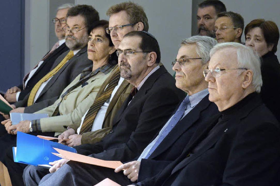 Die Redner von links: Rainer Suchan, W...nst, Markus Engelmann, Wolfgang Gaber   | Foto: Michael Bamberger