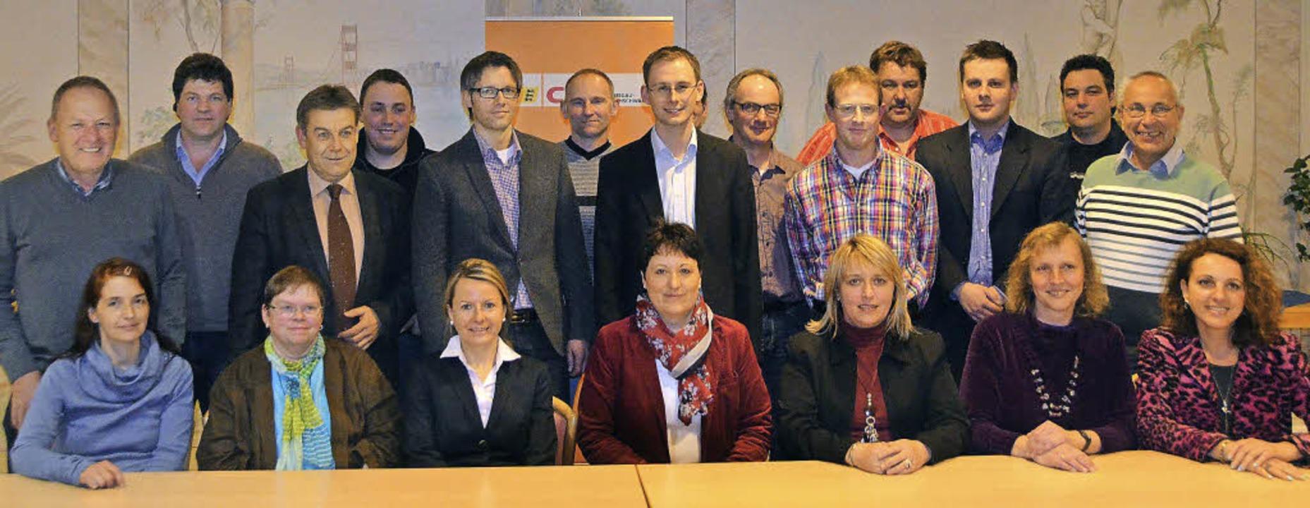 Mit 22 Kandidaten geht die CDU in Löff...r-Hauser, Elke Moser, Petra Titschler.  | Foto: M. Wunderle