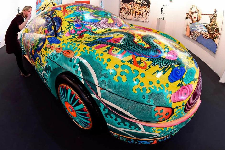 """""""Porcelain Car II"""" des chinesischen Künstlers Ma Jun (Foto: dpa)"""