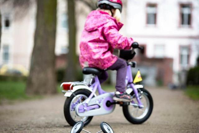 Stützräder für Kinderräder werden zum Auslaufmodell