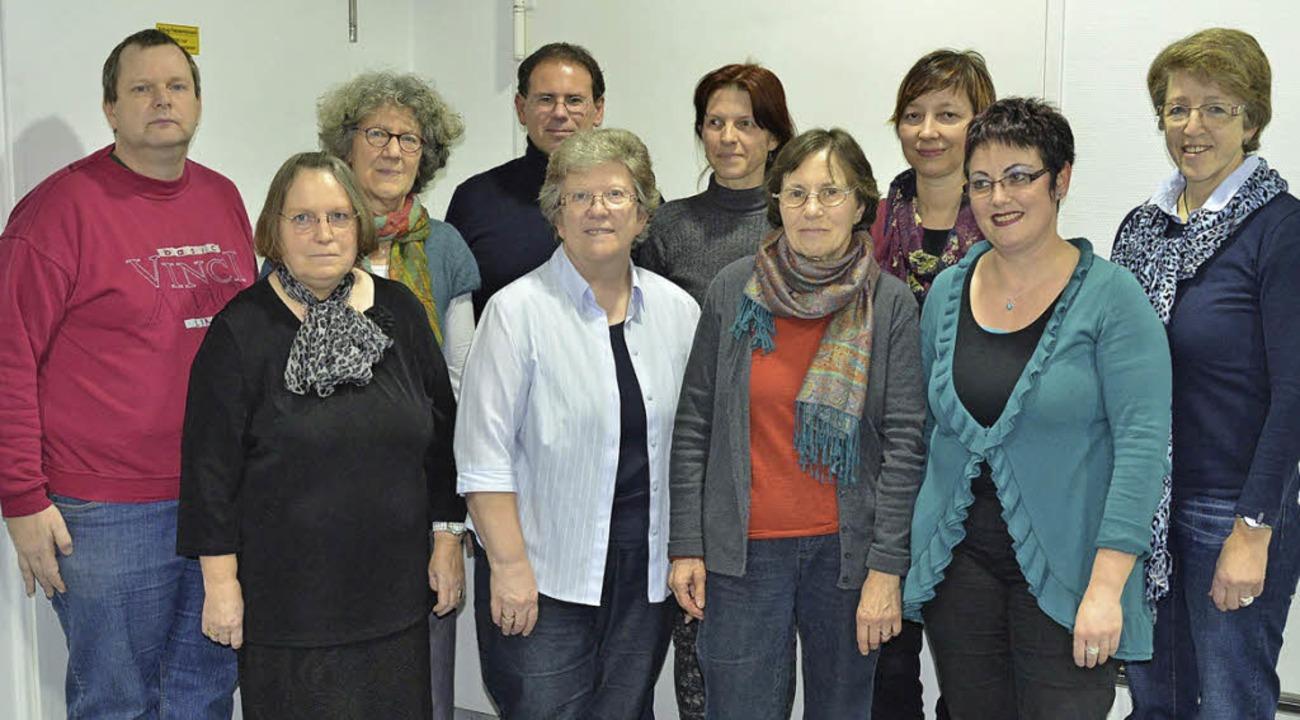 Mitarbeiter und Verantwortliche des Si...n Astrid Kehl (vordere Reihe rechts).   | Foto: privat