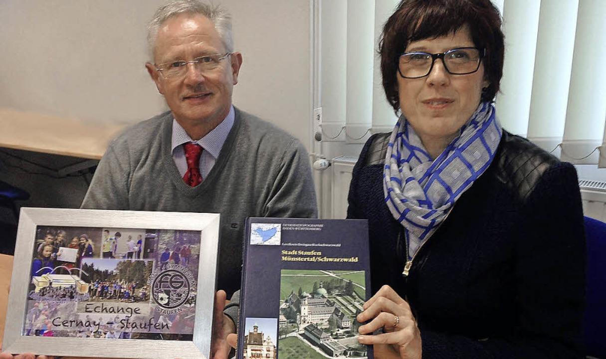 Neue Partnerschaft: die Schulleiter Ha...abelle Martin vom Collège René Cassin.    Foto: Jasmin Lalla