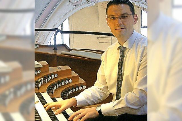 Eindrucksvolle Orgelklänge zur Marktzeit