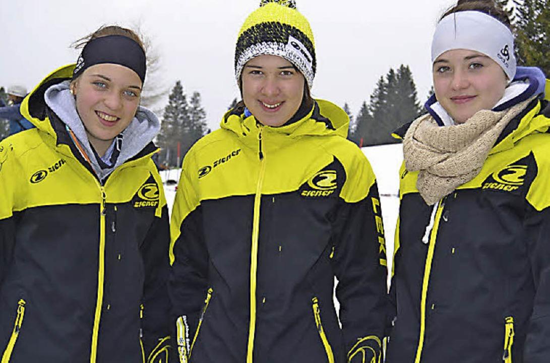 Überlegene Tagessiegerin  wurde die 14...ld (links) und  Luisa Faller (rechts).  | Foto: Helmut Junkel