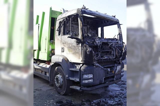 Brand stoppt Müllabfuhr