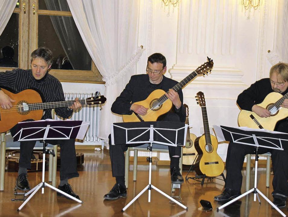 Innerhalb des Gitarrensextetts Guitarr...mpa und Jens Stibal mitunter als Trio.  | Foto: Margrit Matyscak