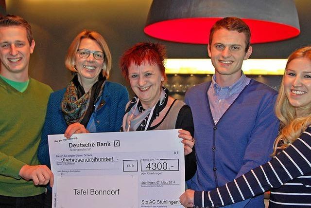 Sto-Azubis spenden für den Tafelladen Bonndorf