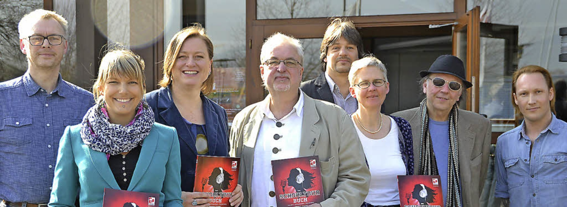 Gemeinsames Projekt (von links):  Mart...e Seidel (Popbüros Baden-Württemberg)   | Foto: lisa geppert