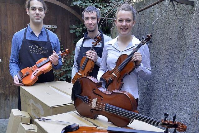 Odyssee der Geigen endet in Brasilien