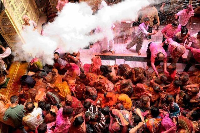 Frühlingsfest Holi in Indien