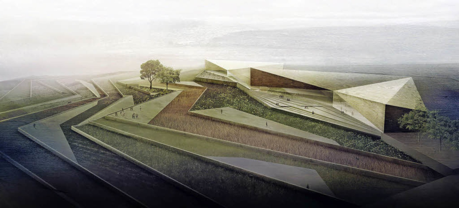 Terrassenanlage: So soll das Palästinensische Museum einmal aussehen.  | Foto: Heneghan Peng