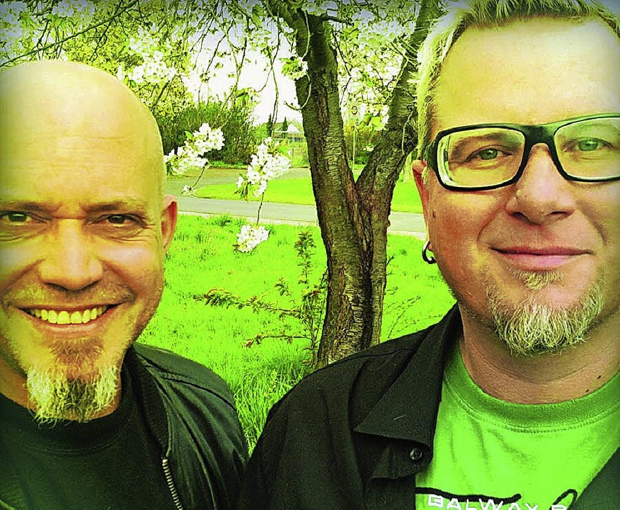 Ande Werner (links) und Lars Niedereic...t am Donnerstag im Bürgerhaus Müllheim  | Foto: ZVG
