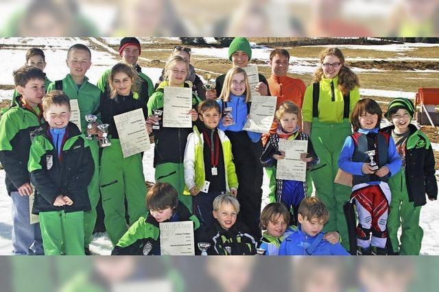 Skiwettbewerb im Vorfrühling