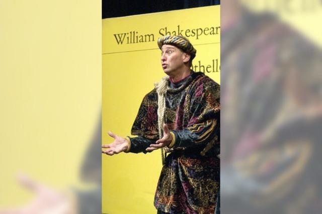 Frei nach Shakespeare: Bernd Lafrenz in der Kumedi in Riegel