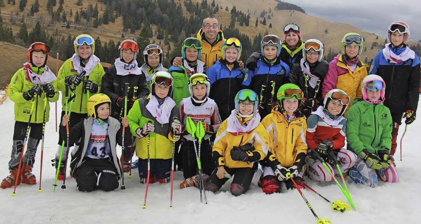 Winterabschluss: Die Teilnehmer aus de...schen Schülercup qualifiziert hatten.     Foto: Horning-Wiesler