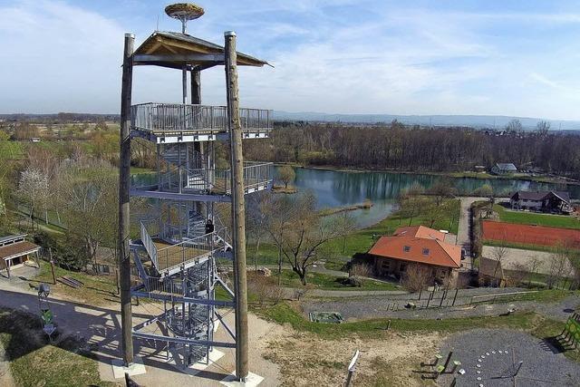 Aussichtsturm im Ruster Klimawandelgarten ist so gut wie fertig