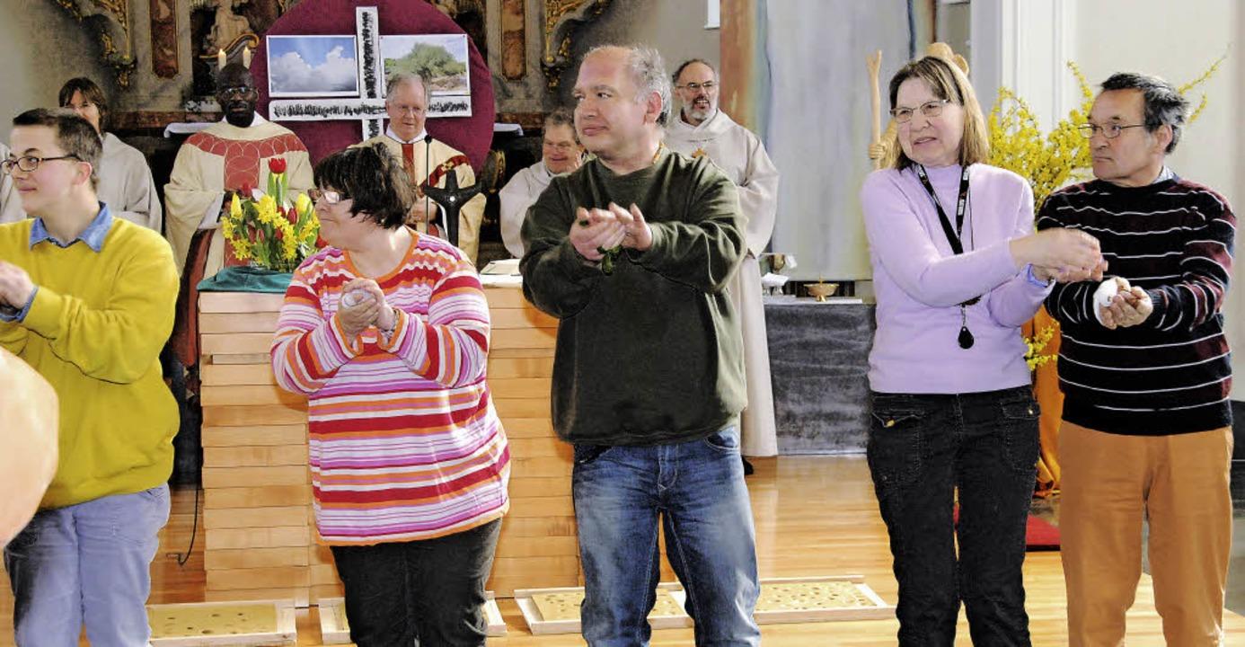 Der Josefstag ist im St. Josefshaus st...r zelebriert von Pfarrer Anton Frank.     Foto: Danielle Hirschberger