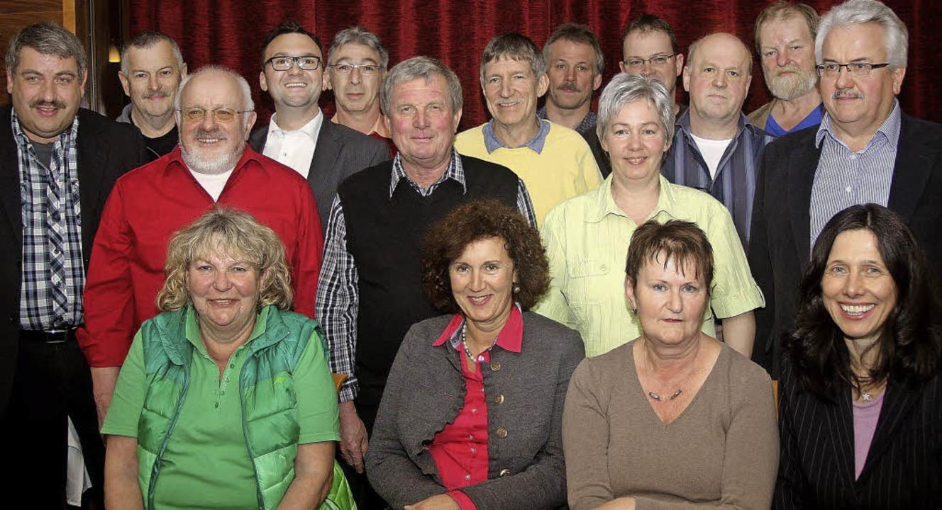 Die Kandidatenliste der SPD Zell ist gut gefüllt.   | Foto: Heiner Fabry
