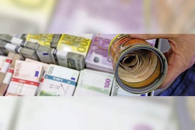 Schwarzgeld in Dosen