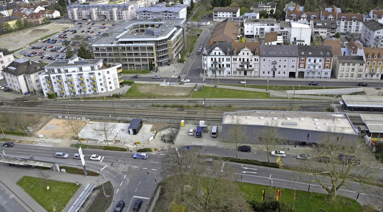S-Bahn, Velostation, Busbahnhof und kü... Kreuzung Luisenstraße/bahnhofstraße.   | Foto: Felix Held