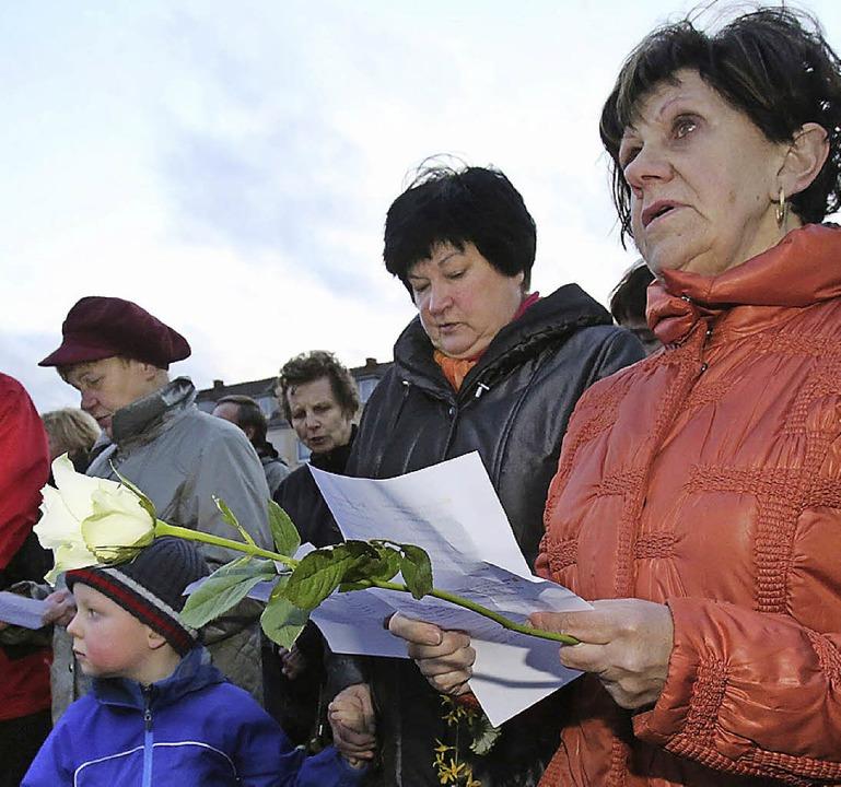 Singen gegen die NPD  | Foto: dpa