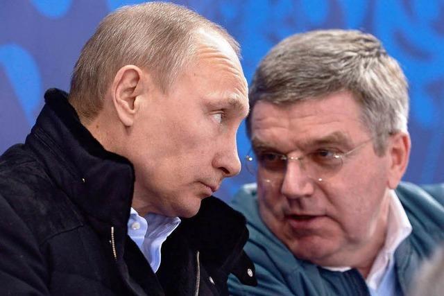 IOC-Präsident Bach nach Putin-Einladung in der Kritik