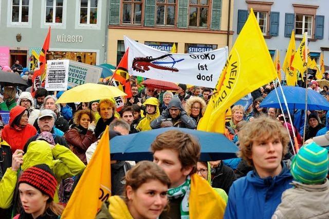 Freiburger gehen für Ökostrom auf die Straße