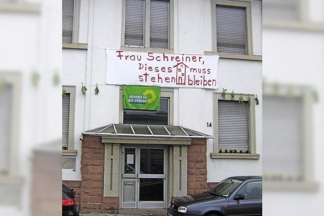 Plakataktion gegen Häuserabriss