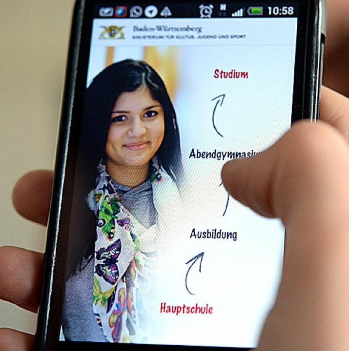 App soll Orientierung bei der Berufswahl bieten.  | Foto: dpa