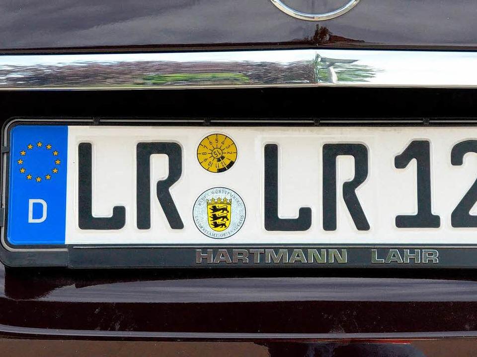 Grünes Licht für  alte Kennzeichen  | Foto: Achim Hanik, Kramberg Christian