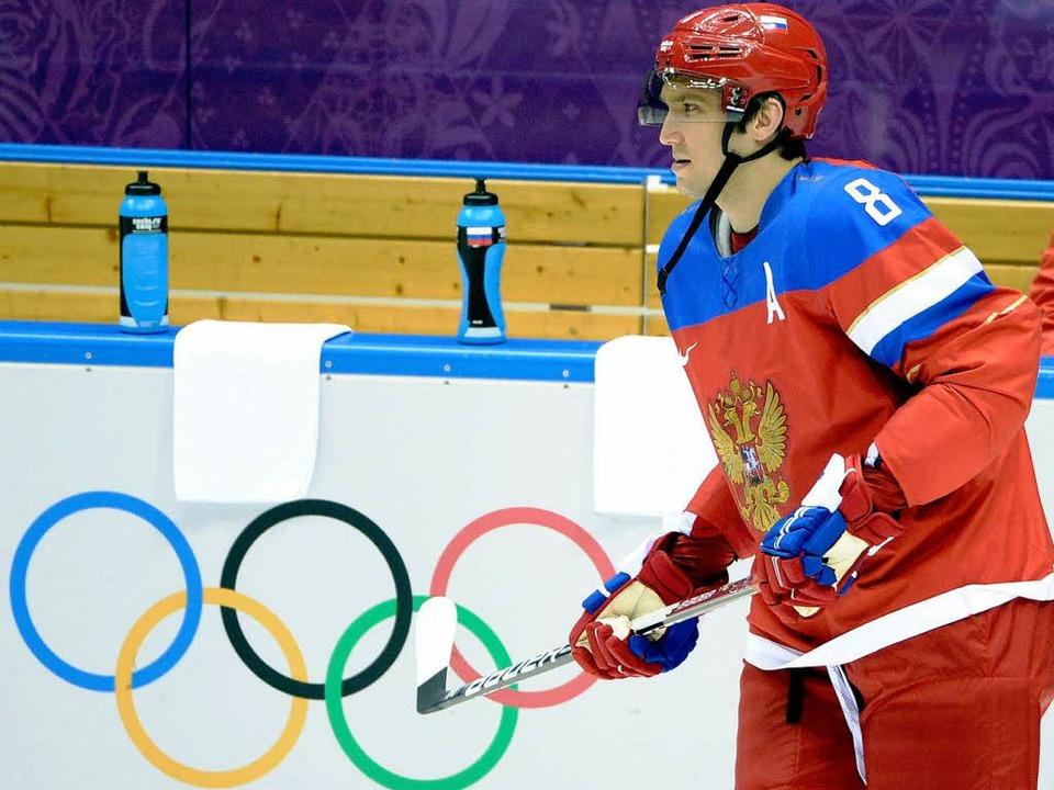 Alexander Ovetschkin zählt zu den russ... nun von Oleg Znarok trainiert werden.  | Foto: AFP