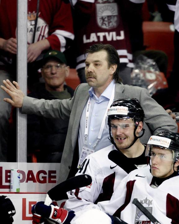 Oleg Znarok, hier als Coach der lettischen Nationalmannschaft  | Foto: AFP