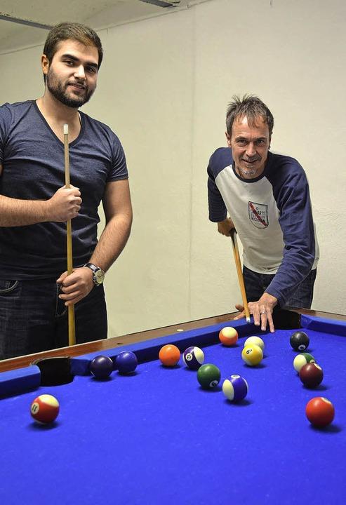 Billardspielen kann man im S 14, wie  ...iemes-Knoblich  und Stadträten statt.   | Foto: Babeck-Reinsch