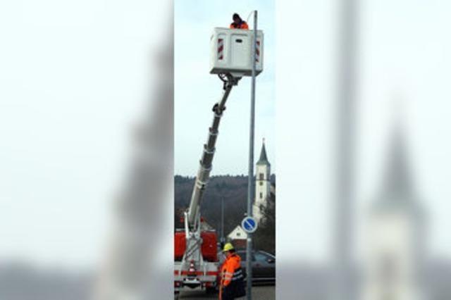 Straßenlaternen werden auf LED umgerüstet