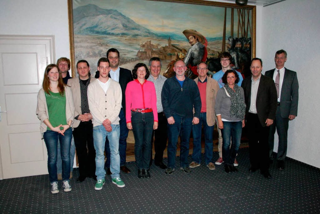 Die Gründungsmitglieder des Vereins Kommunales Kino Breisach.  | Foto: Andreas Dewaldt