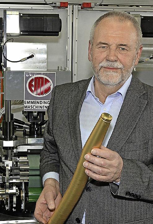 Siegfried Heitzmann beendet heute sein...ei der Firma Emmendinger Maschinenbau.  | Foto: Dieter Erggelet