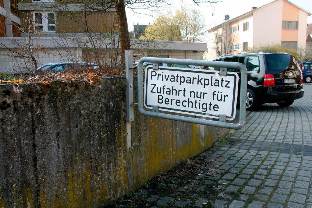 Knöllchen Privatparkplatz