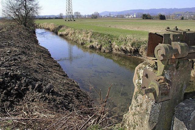 Wassergräben neu gezogen