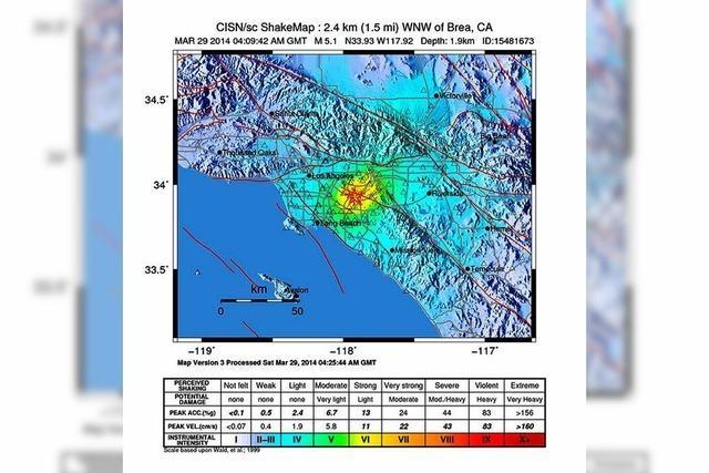 Erdbeben erschüttert Region um Los Angeles