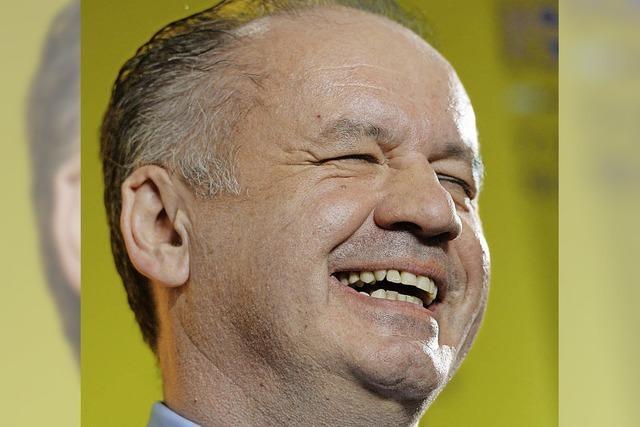 Politneuling wird Präsident der Slowakei