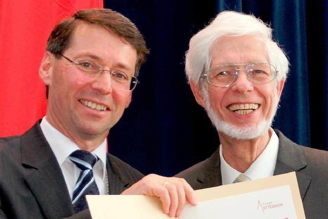 Bernhard Uttenweiler ist der sechste Ehrenbürger von Ettenheim