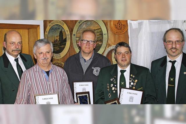 Schützengesellschaft ehrt langjährige Mitglieder