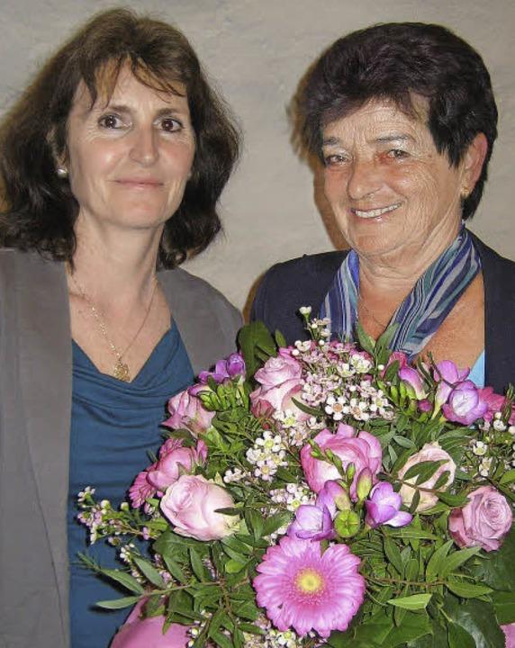 Die neue TV-Vorsitzende Christiane Jer...) und ihre Vorgängerin Christa Brandt   | Foto: Opitz