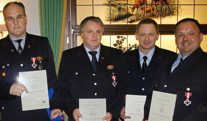 Das silberne Ehrenzeichen des Landes B...hler und Wolfgang Steiert (von links).  | Foto: Dieter Maurer
