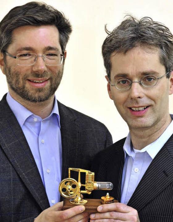 Die Reservix-Geschäftsführer Johannes Güntert (links) und Johannes Tolle  | Foto: Thomas Kunz