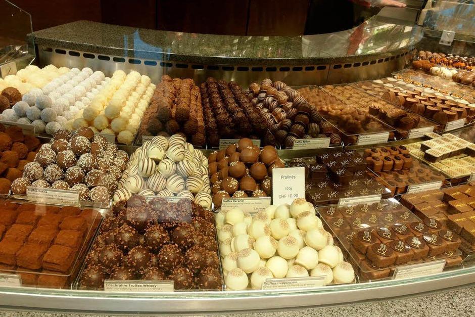 Leckereien aus Schokolade - typisch deutsch! (Foto: Leony Stabla)