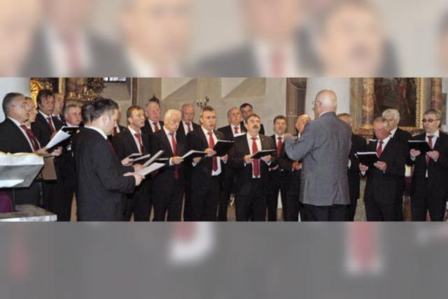 Gesangverein und Solisten mit glänzender Vorstellung